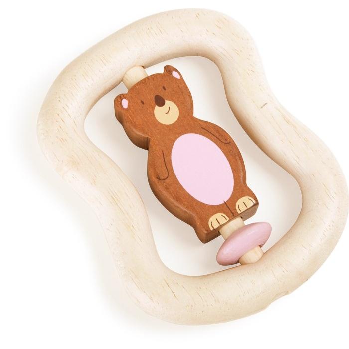 Dřevěná hračka pro uchopení Medvěd