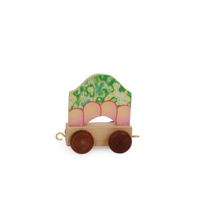 Dřevěné hračky - Vláček abeceda - Vagónek dračí tělo