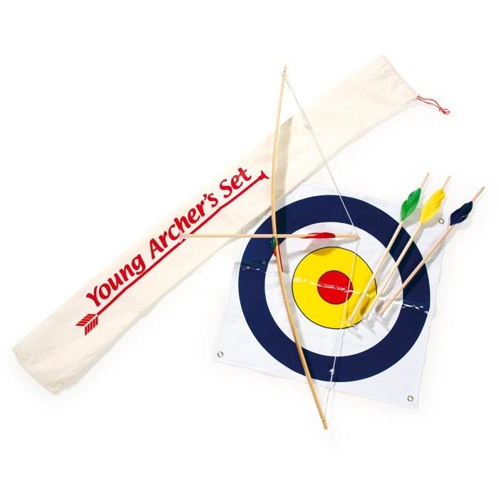 Dřevěné hračky pro kluky - Lukostřelecká sada s přísavkama