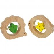 Dřevěné hračky pro nejmenší - Kousátka Ježek a Ryba