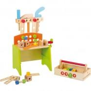 Drevené hračky - Dielenský stôl Deluxe