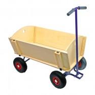 Dřevěné hračky - Dřevěný vozik na tahání