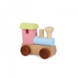 Drevené hračky - Vláčik abeceda - Farebná lokomotíva