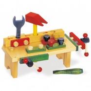 Drevené hračky - Ponk - Pracovný stôl s náradím