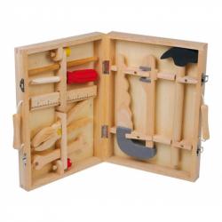 Drevené hračky - Kufrík drevené náradie Maik