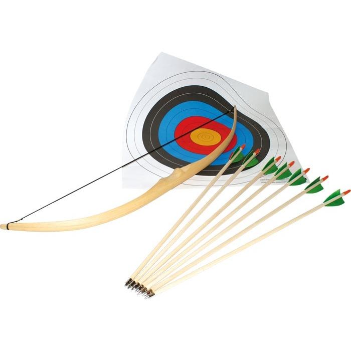 Dřevěné hračky pro kluky - Sada sportovního luku a šípů