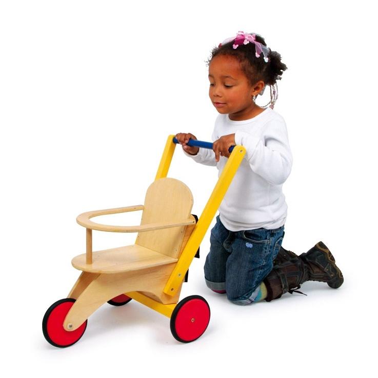 Dřevěné hračky pro holky - Dřevěná tříkolka pro panenky