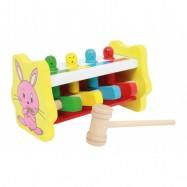 Dřevěné hračky - Zatloukadlo Barevné přiřazení