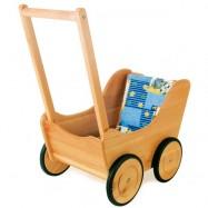 Dřevěné hračky pro holky - Kočárek pro panenky Nostalgie