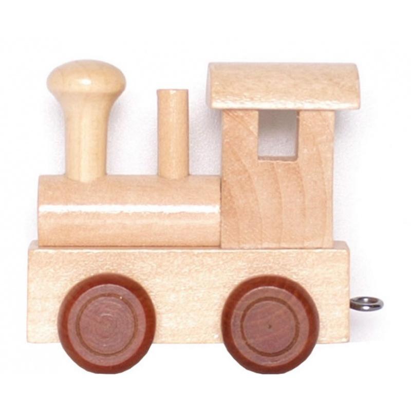 Dřevěné hračky - Vláčkodráha - Vláček abeceda - Lokomotiva