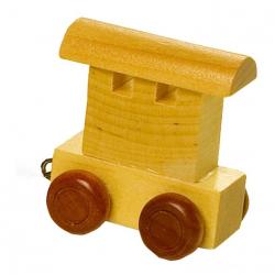 Dřevěné hračky - Vláčkodráha - Vláček abeceda - Vagónek