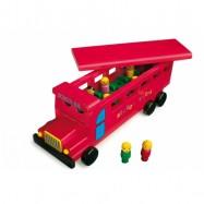 Dřevěné hračky - Dřevěný školní  autobus