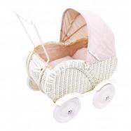 Dřevěné hračky - Proutěný kočárek pro panenky Caroline