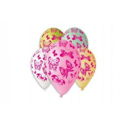 Balónik nafukovacie motýľ 12 '' priemer 30cm 5ks v sáčku
