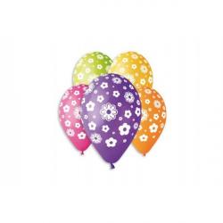 Balónik nafukovacie kvety 12 '' priemer 30cm 5ks v sáčku
