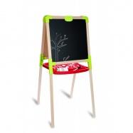 Dřevěná tabule na kreslení 2v1, stojací