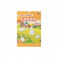 Veselé samolepky Farma 78ks samolepek 12ks A4 pozadí na kartě