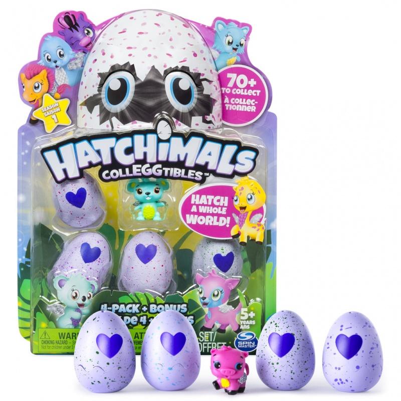 Hatchimals sběr. zvířátka ve vajíčku Čtyřbalení s bonusem