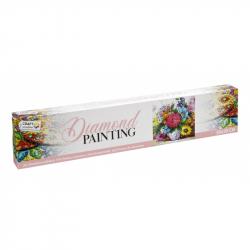 Malování pomocí kamímků Diamond Květiny 30x30 cm