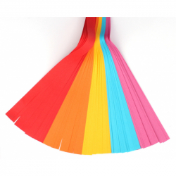 Sada farebných papierov prúžky