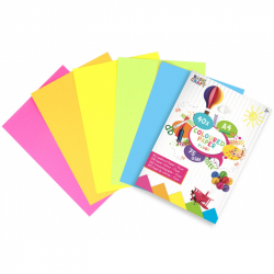 Sada barevných papírů neon A4