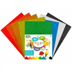 Sada barevných papírů plstěné A4