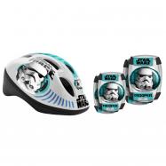 StarWars - Bezpečnostné set helma, kolenné a lakťové chrániče
