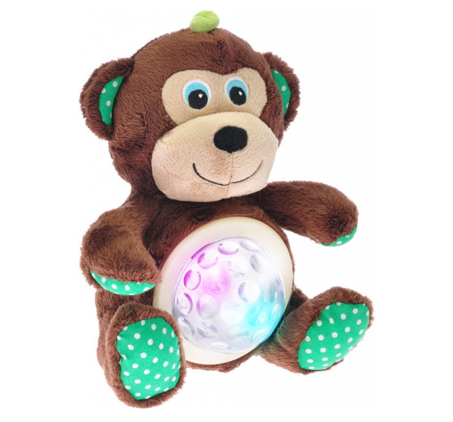 MIKRO TRADING STARLIGHT PETS opice lampička 20cm na baterie se zvukem