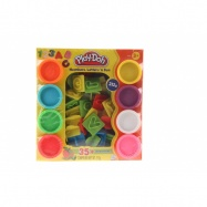 Play-Doh sada s číslami a písmenami