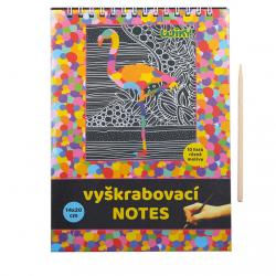 Vyškrabovací notes 011368 14x20cm, 10listů