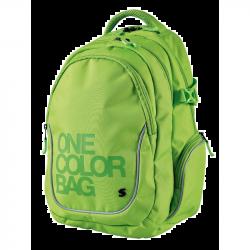 Studentský batoh One Colour zelený