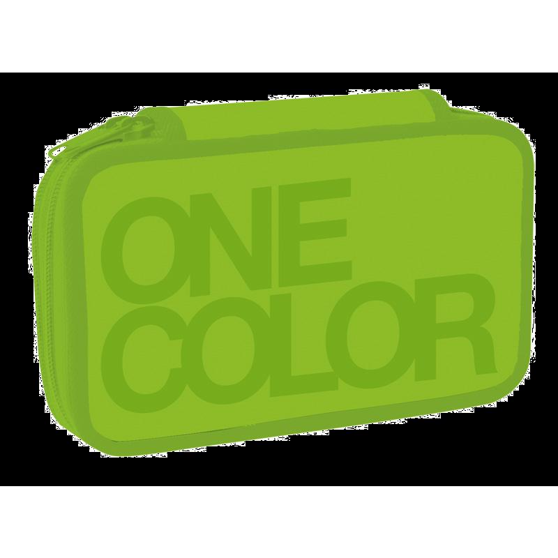 Dvoupatr.penál One Colour zelený