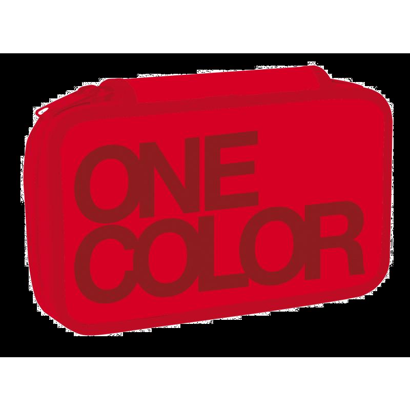 Dvoupatr.penál One Colour červený