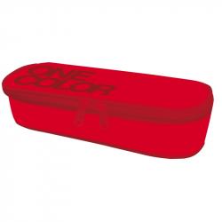 Etui szkolne One Colour czerwone