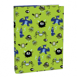Box na sešity s klopou A5 Monsters