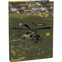 Pudełko na zeszyty z klapką A4 Army