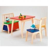 Stolik, krzesła i ławka dla dzieci Bambino