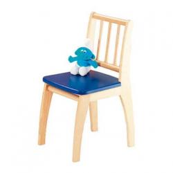 Detská stolička Bambino prírodná / modrá