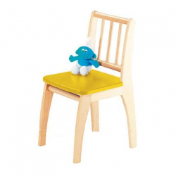Detská stolička Bambino prírodná / žltá