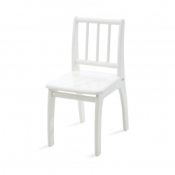 Dětská židlička Bambino bílá