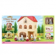 Dárkový set - Třípatrový dům s příslušenstvím A