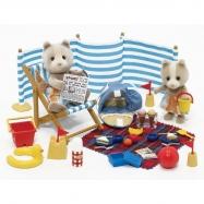 Medvídci na pláži