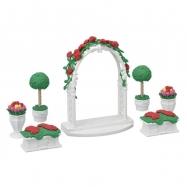 Město - květinová výzdoba s bránou