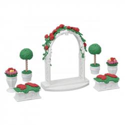 Mesto - kvetinová výzdoba s bránou
