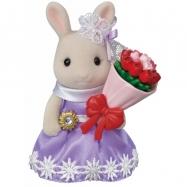 Město - králík s květinovými dary