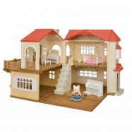 Dárkový set - Patrový dům s červenou střechou B
