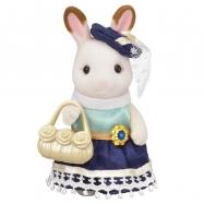 Město - chocolate králičice se žlutou kabelkou