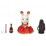 Město - houslistka chocolate králík