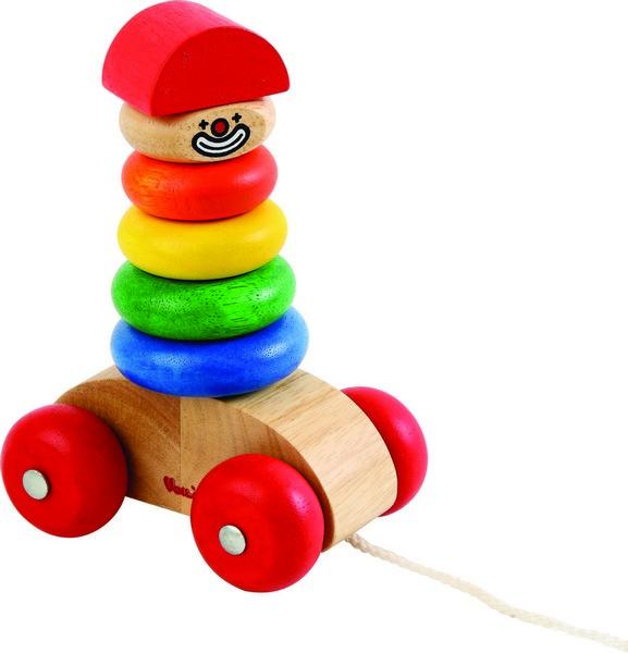 Dřevěný klaun na provázku
