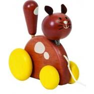 Dřevěná kočka na provázku